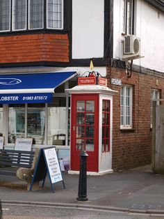 This is the only surviving Post Office model K1 phonebox in the south of England at Bembridge, this design was introduced in 1921