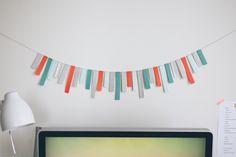 DIY paper strip garland | fellowfellow