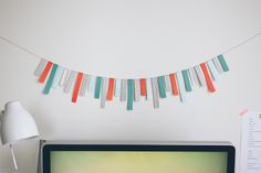 DIY paper strip garland | fellowfellow