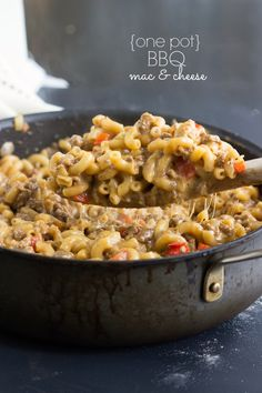~ A one-pot meal - cheesy BBQ pasta - under 30 minute meal!