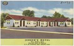 File name: 06_10_020667 Title: Jensen's Motel, new, modern, quiet, one-half block off highway, U.S. 89, Richfield, Utah Created/Published: Pub. by Elmo M. Sellers, Los Angles, California Date issued: 1930 - 1945 (approximate) Physical description: 1 print (postcard) : linen texture, color ; 3 1/2 x 5 1/2 in. Genre: Postcards  Subject: Motels Notes: Title from item. Collection: The Tichnor Brothers Collection Location: Boston Public Library, Print Department Rights: No known restrictions