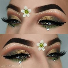 "Regrann from @julsxbeauty - Flower power Brows: @anastasiabeverlyhills dipbrow Pomade ""chocolate"" Eyes: @sigmabeauty warm neutral palette, @anastasiabeverlyhills ""tiger's eye"" and ""fresh green"" & @shopvioletvoss x @larlarlee palette & @nyxcosmetics White liquid liner Liner: @mellowcosmetics gel liner Lashes: @lapaigetrends kiwi #cutcrease #wakeupandmakeup #hypnaughtymakeup #flawlesssdolls #inssta_makeup #undiscovered_muas #anastasiabeverlyhills #mua #makeupartist#motd#beauty#flaw..."