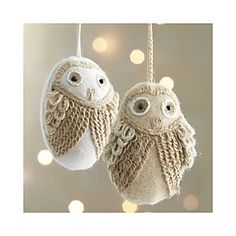 Loopy Owl Ornaments Clearance at Crate & Barrel