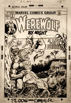 Werewolf By Night #5 Cover Art by Mike Ploog