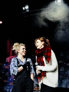 Karen Gillan and Billie Piper