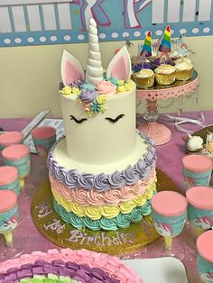 Veautiful Unicorn cake made for a special little girl ADDISON