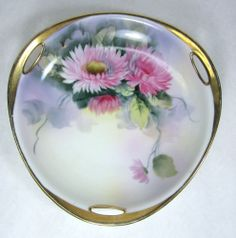 Antique Morimura Bros Nippon Porcelain Bowl Hand Painted Chrysanthemums