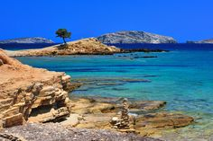Who needs the Caribbean if you have this in Greece? This is the beach with the Monodendri tree, a lone tree looking out Most Beautiful Beaches, Beautiful Places, Yacht Charter Greece, Sailing Adventures, Nude Beach, European Vacation, Boat Rental, Greece Travel, Greek Islands