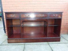 Mahogany sideboard/bookcase