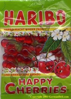 Haribo Happy Cherries--German Candy...Beke get me some!!!!