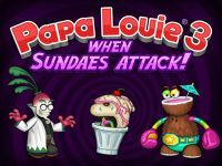 Play Papa Louie 3 Now at hoodamath.com - Papa Louie 3 is the third installment of this wildly popular platformer series. This time, you will be exploring the Land of Munchmore's sweeter side. Just don't let the candy fool you, it's dangerous out there! It's up to Captain Cori to rescue Papa Louie and the rest of the customers from Radley Madish, Luau LePunch, and an endless army of slimy Sundaesauruses!