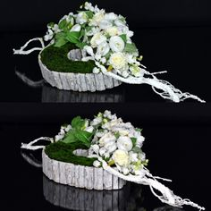 Funeral Flower Arrangements, Funeral Flowers, Christmas Wreaths, Christmas Decorations, Table Decorations, Ikebana, Diy Flowers, Ladder Decor, Flower Arrangements