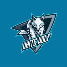 White wolf esports and gaming logo Premium Vector Gfx Design, Team Logo Design, Vector Design, Logo D'art, Art Logo, Logo Animal, Gaming Logo, Camera Logo, Youtube Logo