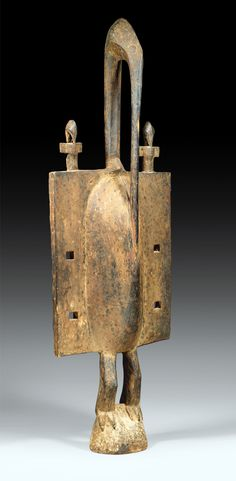 Africa | Bird sculpture from the Senufo people of the Ivory Coast | Wood