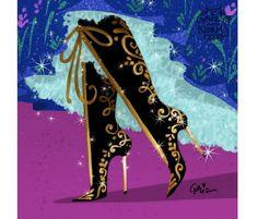 """ウォルト・ディズニー・アニメーション・スタジオで働く、キャラクターデザイナー""""Griz""""さんと、ストーリーボードライターの""""Norm""""さんが描いた… もしも、ディズニープリンセスが現代の靴を履いたら…どんなブランドが似合う? というイメージアート。これが、とっても素敵だったので紹介したいと思います。"""