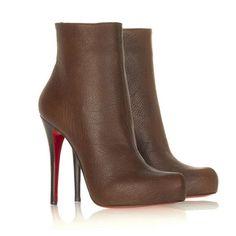 Christian Louboutin Arielle Talon Ankle Boots Brown