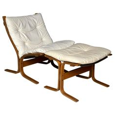 1960's Westnofa Siesta Chair and Ottoman | From a unique collection of antique and modern lounge chairs at https://www.1stdibs.com/furniture/seating/lounge-chairs/