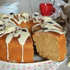 chiffon cake caffè e cioccolato bianco.