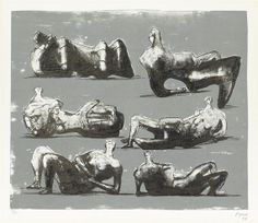 Henry Moore - Six Reclining Figures, 1973, Color