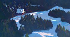 Plein-air 01 by Slawek Fedorczuk Animation Background, Art Background, Fantasy Paintings, Fantasy Art, Digital Paintings, Landscape Illustration, Digital Illustration, Matte Painting, Visual Development