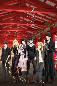 Noragami Aragoto-Kazuma, Bishamon, Hiyori, Yato, Yukine, Ebisu