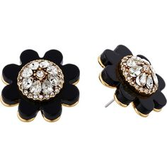 Kate Spade New York Shadow Blossoms Statement Studs Earrings... (48 NZD) ❤ liked on Polyvore featuring jewelry, earrings, accessories, studs, tan, gold plated stud earrings, kate spade jewelry, studded jewelry, gold plated jewelry and floral jewelry