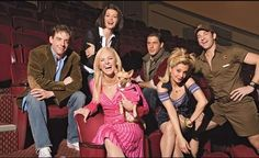 """OmiGod I love this picture!! The original Broadway cast of """"Legally Blonde the Musical""""- Christian Borle, Kate Shindle, Laura Bell Bundy, Richard H. Blake, Orfeh, and Andy Karl ❤❤❤❤❤❤❤❤❤"""