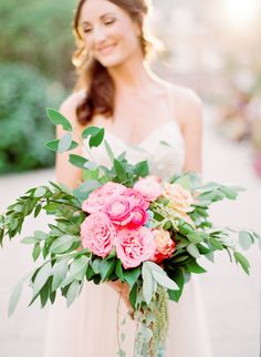 Pretty pink bouquet: http://www.stylemepretty.com/new-jersey-weddings/princeton/2016/01/12/shabby-chic-anniversary-inspiration/ | Photography: Kay English - http://www.kayenglishphotography.com/