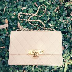 Chanel Cruise 2014 flap bag beige and gold via TexasFashionSpot.com