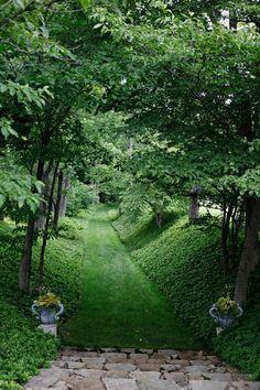 Garden Path & Urns Pinned to Garden Design by Darin Bradbury.