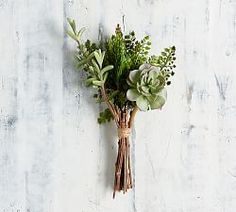 Shop Pottery Barn's collection of artificial plants and faux flower arrangements. Add the finishing touch with silk flowers that will be in bloom all year round. Artificial Succulents, Faux Succulents, Faux Plants, Artificial Flowers, Indoor Plants, Farmhouse Wall Decor, Farmhouse Style Decorating, Farmhouse Furniture, Rustic Farmhouse