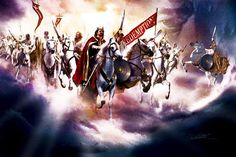 the church in heaven paintings   And the armies which were in heaven followed him upon white horses ...