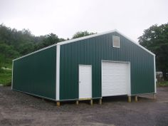 """Building Dimensions: 30' W x 30' L x 10' 4"""" H (ID# 354)  Visit: http://pioneerpolebuildings.com/portfolio/project/30-w-x-30-l-x-10-4-h-id-354-total-cost-10858  Like Us on Facebook! www.facebook.com/... Call: 888-448-2505 for any questions!"""