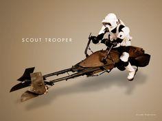 #StarWars #BikerScout #ScoutTrooper #Speeder #Speederbike
