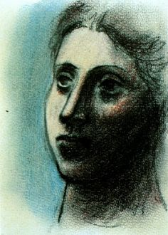 'head of a woman' by pablo picasso Pablo Picasso, Picasso Blue, Picasso Art, Picasso Paintings, Oil Paintings, Spanish Painters, Spanish Artists, Cubist Portraits, Drawing Portraits