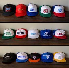 cf41ff2b974 TRUCKER HATS Vintage 80s  amp  90s Snapback Trucker Hat Lot of 15 https