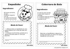 Livro de Receita Dia das Mães Ideia Criativa Betty Crocker, Kids Meals, Food And Drink, Professor, Mothers, Zen, Cheesecake, Label, Favorite Recipes