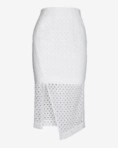 Nicholas Exclusive Lace Calf Length Skirt
