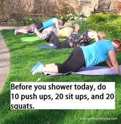 Jump start your day! This will help get you motivated to move more just do a little bit more every morning.