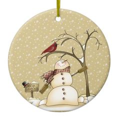 Whimsical Snowman and Red Bird Christmas Ornam Ceramic Ornament Whimsical Snowman and Red Bird Christmas Ceramic Ornament Snowman Christmas Ornaments, Christmas Door Decorations, Wood Ornaments, Christmas Centerpieces, Diy Christmas Ornaments, Christmas Wreaths, Christmas Crafts, Ornaments Ideas, Cardinal Ornaments