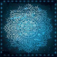 Illustration of Abstract tribal pattern vector art, clipart and stock vectors. Mandala Design, Mandala Art, Mandala Pattern, Indian Mandala, Color Optical Illusions, Azul Indigo, Tattoo Project, Circle Art, Indian Patterns