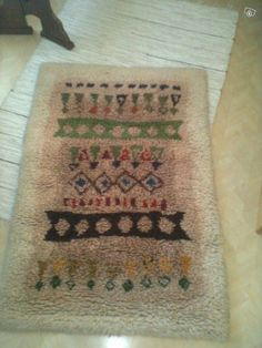 "Kuortaneen Kotikutomon "" Pirtti "" ryijy design Rya Rug, Rugs On Carpet, Carpets, Textile Art, Bohemian Rug, Weaving, Birches, Textiles, Tapestry"