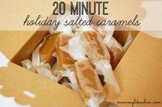 20 Minute Holiday Salted Caramels - mommylikewhoa.com