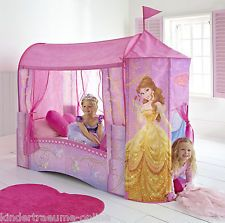 Cama Con Dosel Con Cortinas Princesa Disney, Infantil