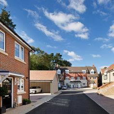 Enter through private gates to Hunters Place in Hindhead - a new community in a Surrey village showcasing 2.3 and 4 bedroom new homes in 6 styles http://www.thakeham.com/new-homes/hunters-place