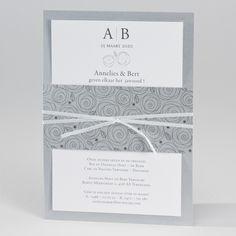 Silver huwelijkskaart met abstracte bloemen