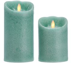 Mirage by Candle Impressions LED Flameless Candle on @qvc. Comes with a Programmable Timer that can be set from 1 - 23 hours, plus the longest battery run time! Color is Seafoam