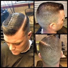 High fade mens cut.