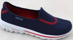 Skechers Go Recovery Womens Lightweight Shoes Navy/Red 11. Details at http://youzones.com/skechers-go-recovery-womens-lightweight-shoes-navyred-11/