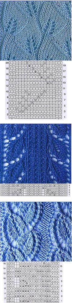 Leaf type Knitting pattern